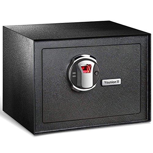 Younion Fingerprint Safe,Security Safe for Home,Biometric Safe-0.81 Cubic Feet,Black