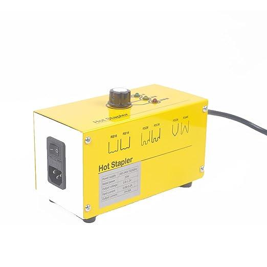 Beyondlife máquina de soldadura de reparación de plástico Hot stapler Tool Gun Kit para parachoques de reparación de plástico con caja de almacenaje de 600 ...