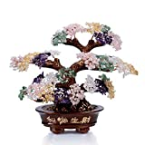 KALIFANO Natural Tree of Life Gemstones Chakra Crystal Tree - Bonsai Feng Shui Money Tree for Healing and Luck