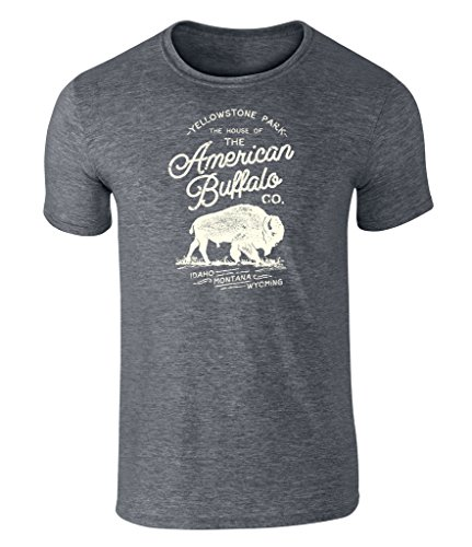 Extra Badges (California Black Plate Vintage Style American Buffalo CO. Yellowstone Badge Icon T Shirt Dark Heather Extra Large)