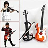 E Support™ New Kid Children Electronic violin + Hand Guitar Metal Instrument Toy Child Toy Gift