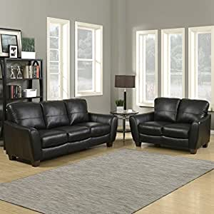 Sawyer Contemporary Sofa and Loveseat, 2-Piece Stationary Set