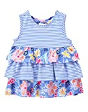Gymboree Baby Toddler Girls' Tiered Tank Top, Faberge Blue, 2T offers