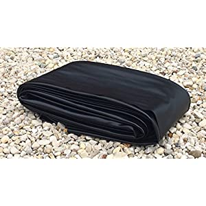 25′ x 30′ Pond Liner – 20-mil Black PVC for Koi Ponds, Streams Fountains and Water Gardens