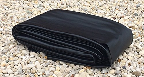6' x 75' Pond Liner - 20-mil Black PVC for Koi Ponds, Streams Fountains and Water Gardens by USA Pond Products