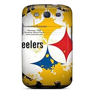 Durable Hard Phone Covers For Samsung Galaxy S3 With Customized Colorful Pittsburgh Steelers Pattern PhilHolmes
