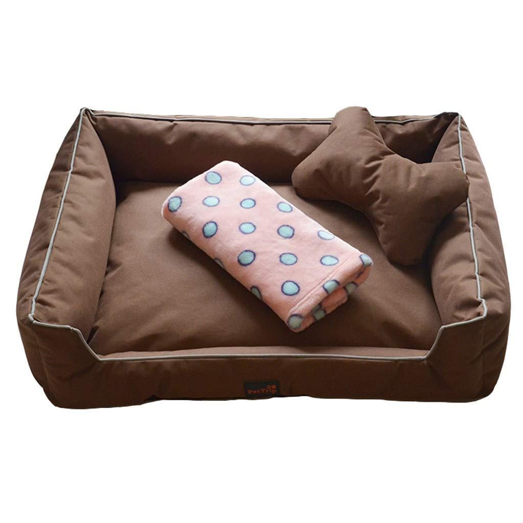 100×80×20cm Apet bed Pet Mat, Large Dog Kennel Cat House Removable And Washable Nest Wearresistant Bite Pet Bed (color   B, Size   85×60×20cm)