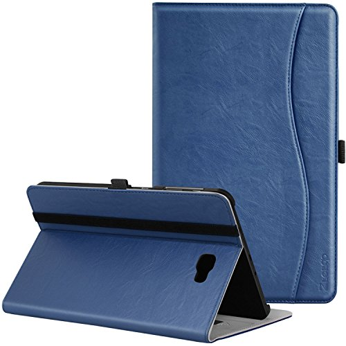 Samsung Galaxy Tab A 10.1 Case - Ztotop Leather Folio Case Cover for Samsung 10.1 Inch Tablet SM-T580 T585(NO S Pen Version) with Auto Wake/Sleep and Card Slots, Multiple Viewing Angles, Navy Blue (Case Samsung Tab Galaxy)