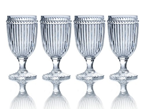 Mikasa Italian Countryside Iced Beverage Glass, Clea. 13-Ounce, Set of 4