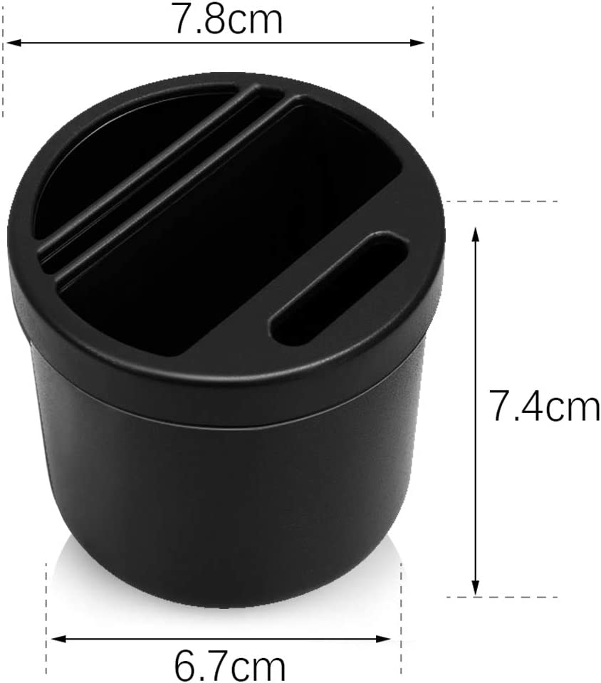 MHwan Car Cup Holder Organiser Office and Home 2pcs Car Console Storage Multifunctional Water Cup Slot Storage Box Drinking Bottle Can Cup Holder Coin Card Collector for Car