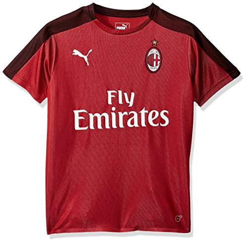 PUMA Men s AC Milan Stadium Jersey SS Kids with Sponsor 6c4300678cd2d