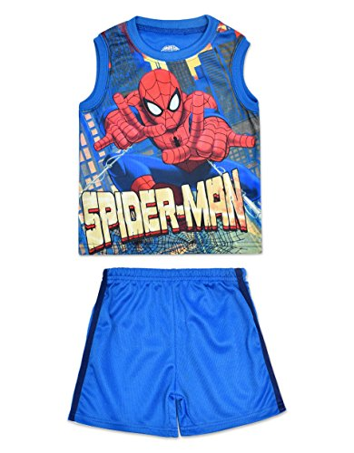 spider-man+tank+tops Products : Toddler Boys' Spiderman Tank Top and Shorts Set