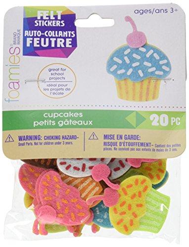 Darice FLT 2781 Felties Stickers Cupcakes