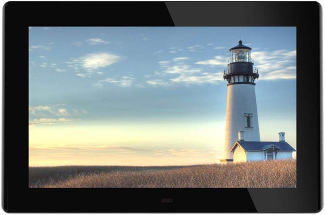 can Play Music//Photos 10.1 inch Digital Photo Frame 1080P HD Video//Clock//Calendar 1024 /× 600 Resolution
