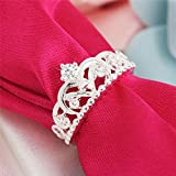 NEW Silver Plated Silver Plated Pretty Crown Lady Cz Crystal Ring Princess Ring LOVE STORY (8)