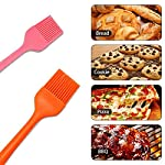 IMOE Silicone Basting Brush Set,2 Pack Heat Resistant BBQ Pastry Oil Brush, Turkey Honey Cream Baster,Food Grade,Dishwasher Safe,FDA Approved,Bristle Free 10 ★Unique Set★: Come with 1 long orange pastry brush(10.4in) and 1 short pink brush(8.3in) can meets all different usage, also easy for distinguished with different colors. ★Multi-Use★: Good grips oil brush are Great for toast,jam,honey,bread, condersed mil,BBQ, roast,honey baster and more. Heat resistant up to 446?F / 230?C ★Dishwasher Safe★: This food grade baster set are made from FDA approved silicone with steel core inside.Won't melt, discolor or shrink like some plastic nylon brushes. And the britles or brush head won't falls off on your foods.