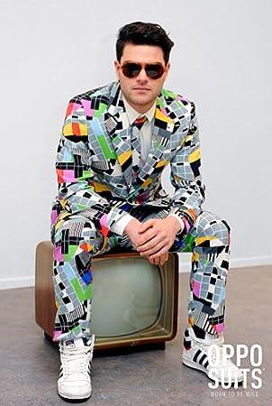 zur Freigabe auswählen heiß seeling original Ausverkauf Testival Testbild Anzug bunt Slimline Herren 3-teilig Premium Gr 48