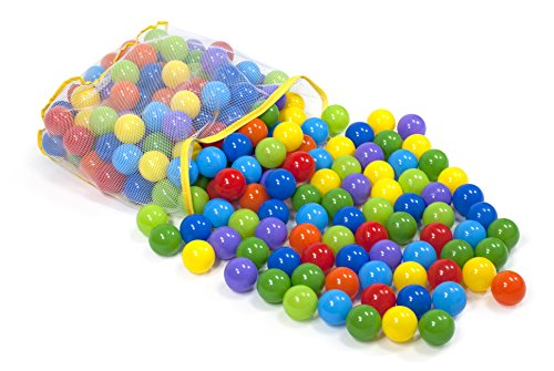 Wonder Playball 200 Colorful Playballs Safe & Non-Toxic with Mesh Storage Tote
