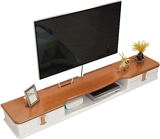 RENJUN - Estante de pared para televisor (madera maciza), estante de pared, madera, 110 cm: Amazon.es: Hogar