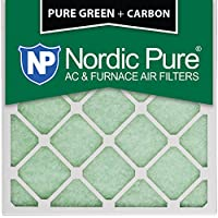 Nordic Pure 12x12x1PureGreen+C-3 AC Furnace Air Filters, 12 x 12 x 1, Pure Green