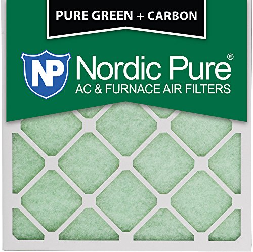 16x16x1PureGreen+C-6 Plus Carbon AC Furnace Air Filters, 6-Piece by Nordic Pure