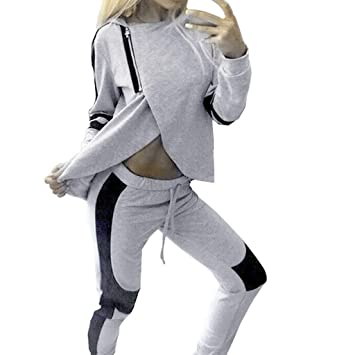 Amazon.com: 2 piezas de chándal para mujer, pantalones ...