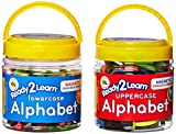 Center Enterprise CE6909 READY2LEARN Upper/Lower English/Spanish Magnetic Alphabets Combo (Pack of 108)