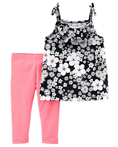 Carter's Baby Girls' 2 Pc Playwear Sets 239g354 (18 Months, Pink/Floral)