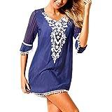 6be2fcff9a Douremifa Swim Cover Ups Crochet Beach Dress Women Plus Size Half Sleeve V  Neck Bikini Swimsuit