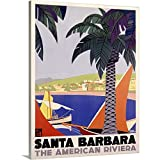 Canvas on Demand Premium Thick-Wrap Canvas Wall Art Print entitled Santa Barbara American Riviera Vintage Advertising Poster 18''x24''