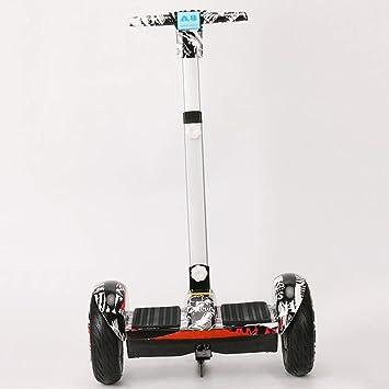 QSM 10 Pulgadas Inteligente A8 Eléctrico de Dos Ruedas de Equilibrio Cuerpo de Coche Coche Auto-Equilibrio Scooter de Dos Ruedas,Negro,UNA: Amazon.es: ...