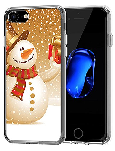 Tpu Case Bumper for iPhone 8/iPhone 7 4.7 inch Golden Snowman