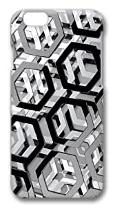 iPhone 6 Case, iPhone 6 Cases -Hexagons 3D Polycarbonate Hard Case Back Cover for iPhone 6 3D