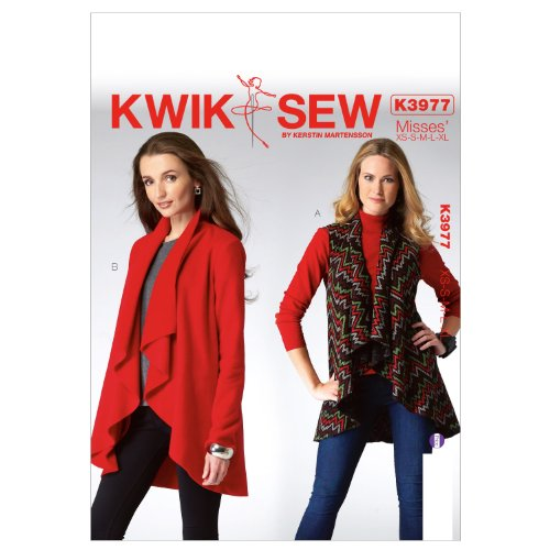 (KWIK-SEW PATTERNS K3977 Misses' Vest and Jacket Sewing Template)