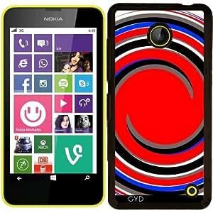 Funda para Nokia Lumia 630 - Remolinos Azules Y Negros Rojos by loki1982