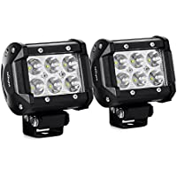 Nilight 2PCS 18W 1260lm Spot Driving Fog Light Off Road Led Lights
