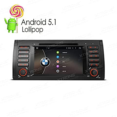 XTRONS Quad Core 7 Inch Android 5.1 Lollipop Car Stereo Multi-touch Screen Radio DVD Player CANbus Built-in DAB+ Tuner for BMW E53 (Dab Car Audio)
