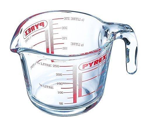 Pyrex 0.25 Litre Measuring Borosilicate Glass Jug,