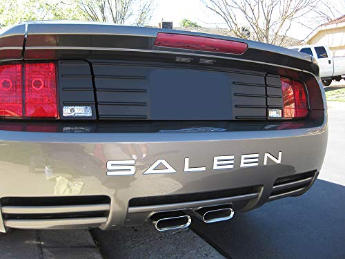 - BDTrims | Bumper Letters for Ford Mustang Saleen 2005-2009 ABS Plastic Inserts (White)