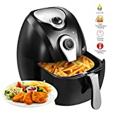 lowfat fryer - Mecor 2.7L 1300W Electric Air Fryer Timer Temperature Control With Cooking Presets for Healthy Low-Fat Air Fryer with Little to No Oil Black
