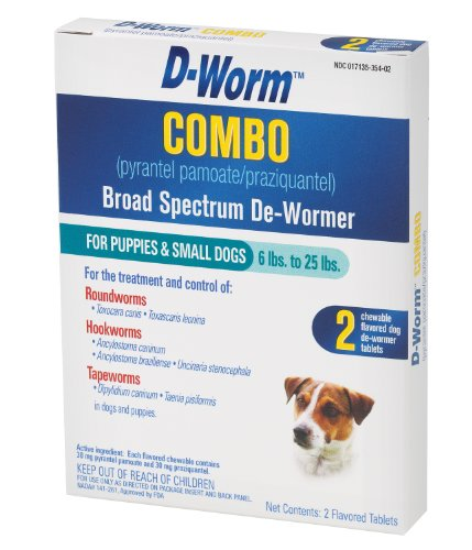 D-Worm 2 Count Combo Broad Spectrum De-Wormer for Puppies and Dogs, Small, My Pet Supplies