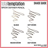 Maybelline Total Temptation Eyebrow Definer Pencil, Medium Brown, 1 Count