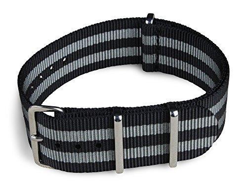 blushark-22mm-black-and-gray-striped-nylon-watch-strap-james-bond-strap