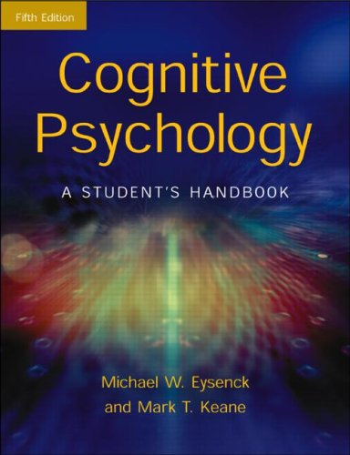 Cover for Cognitive Psychology: A Student's Handbook