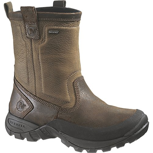 Merrell Men's Bergenz Waterproof Boot,Brown/Stone Leather,7.5 M US