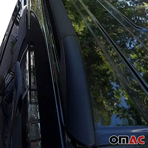 OMAC GmbH Dachreling f/ür Vito Viano W639 W447 Alu Kurzer Radstand Schwarz Solid 2 TLG