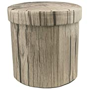 Sorbus Storage Ottoman, 15 Inch Cute 3D Play Room Stool Toy Box – Foldable with Lid – Perfect Footstool, Pouffe, Hassock, Strong & Sturdy Space Saving Chest (Tree Stump)
