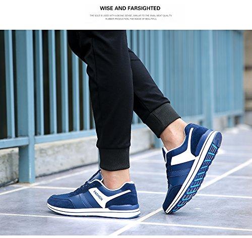 Athletic Men's Mzcurse Fashion Versatile Blue Running Casual Sneakers Shoes Sport fqdrYq