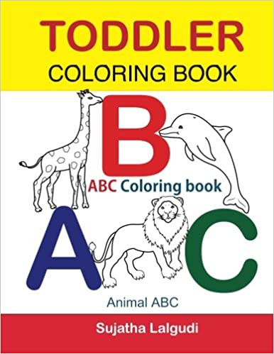 Toddler Coloring Book. ABC Coloring book: Animal abc book, coloring ...