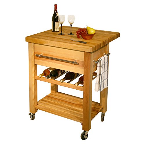 Catskill Craftsmen Baby Grand Workcenter with Drop Leaf and Wine Rack
